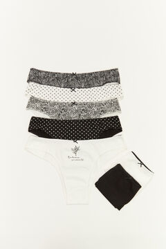 Womensecret 7-pack of cotton Brazilian panties black