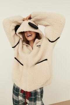 Womensecret Robe de chambre courte polaire Mickey Mouse beige