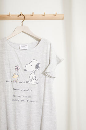 Womensecret Striped Snoopy Maternity nightgown grey