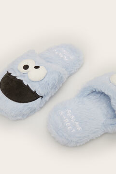 Womensecret 3D Cookie Monster slingback slippers blue