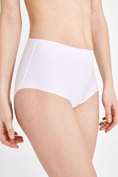 Womensecret 2 Culotte taille haute blanc