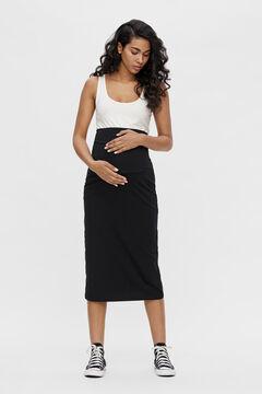 Womensecret Falda maternity larga negro
