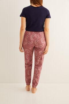 Womensecret Long paisley print pyjama bottoms pink
