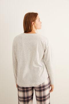 Womensecret T-shirt gris serafino « sleep » gris