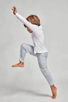 Womensecret Pijama Camisola Calças Popelina para menino azul