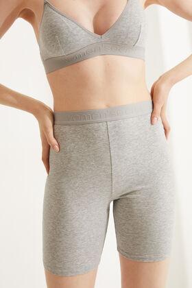 Womensecret Grey organic cotton cyclist shorts grey