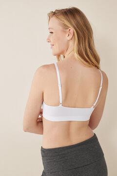 "Womensecret Top liso sin costuras ""my first bra"" blanco"
