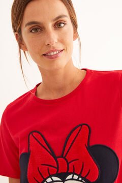 Womensecret Long Minnie short-sleeved pyjamas red