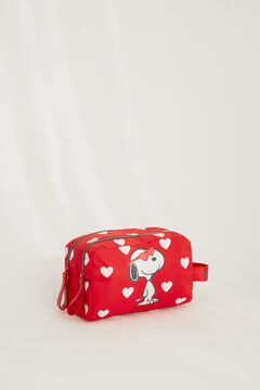 Womensecret Trousse de toilette cœurs Snoopy rouge