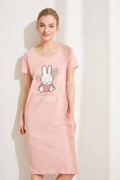 Womensecret Pink cotton Miffy midi nightgown pink