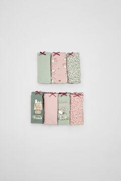 Womensecret Pack 7 braguitas Snoopy algodón  verde