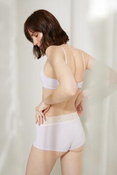 Womensecret Braguita tipo bóxer algodón orgánico encaje rosa rosa