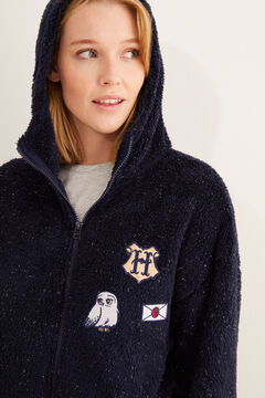 Womensecret Short navy fleece Harry Potter robe blue