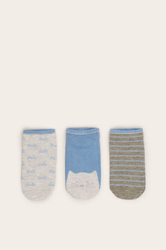 Womensecret Pack of 3 Short socks printed