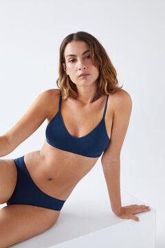 Womensecret Blue seam-free Brazilian panty blue
