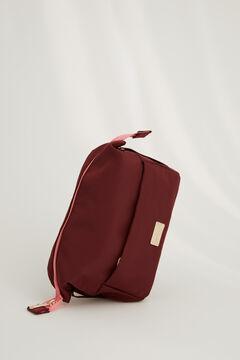 Womensecret Medium basket-style vanity case in maroon printed