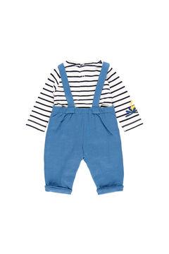Womensecret Conjunto punto listado de bebé azul
