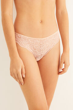 Womensecret Classic pink lace panty pink