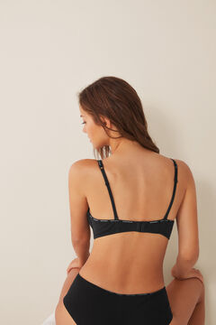 Womensecret Organic cotton triangle bra black
