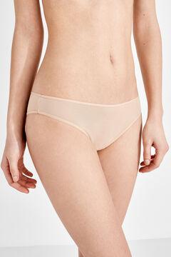 Womensecret 3 microfiber brazilian panties pack nude
