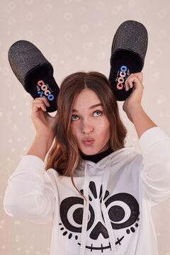 Womensecret Coco black slider slippers. grey