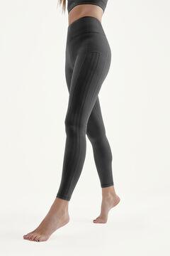 Womensecret Black Asura Leggings preto