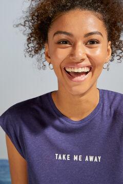 Womensecret Blue short-sleeved top blue