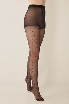 Womensecret Basic plumetis tights black