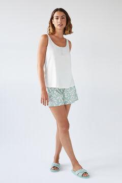 Womensecret Short organic cotton vest pyjamas beige