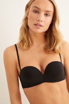 Womensecret Wireless maxi push up strapless bra  black