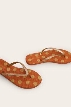 Womensecret Polka-dot flip-flops nude