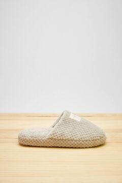 Womensecret Grey fluffy slippers grey