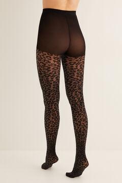 Womensecret Panty lúrex animal print negro