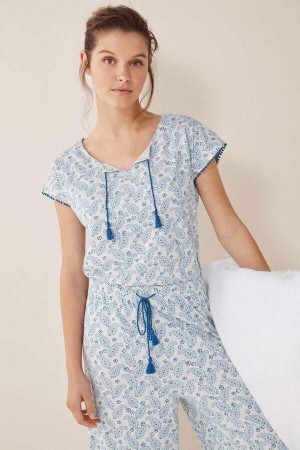 795737ae7 Womensecret Pijama largo paisley estampado