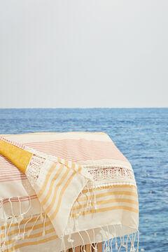 Womensecret Pareo-Handtuch Streifen  Weiß