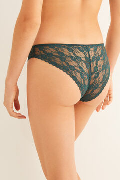 Womensecret Classic turquoise lace panty green