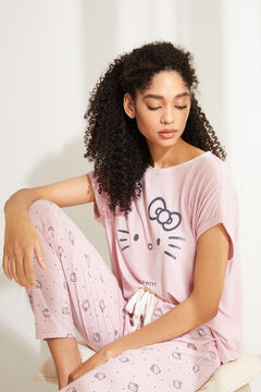 Womensecret Pyjama long Hello Kitty rose rose