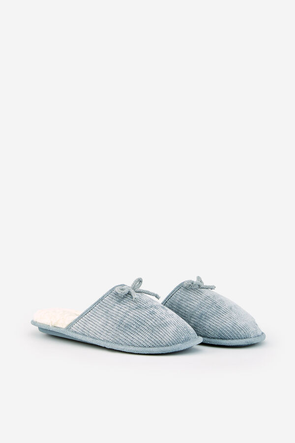 2443be0ab0 Womensecret Zapatillas de casa chenilla forradas gris