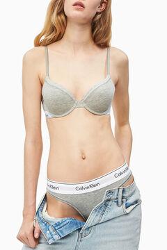 Womensecret Modern Cotton elasticated waist thong grey