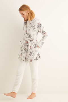 Womensecret Midi Mickey fleece robe white