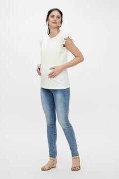 Womensecret Ruffled maternity top white