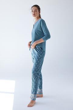 Womensecret Long green organic cotton pyjamas  green
