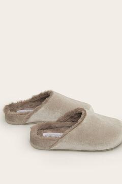 Womensecret Grey mule slipper grey