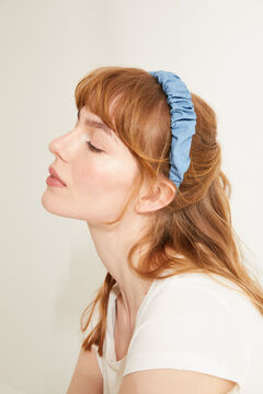Womensecret Wrinkled effect denim headband blue