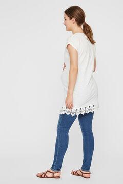Womensecret Túnica maternity de manga curta  branco