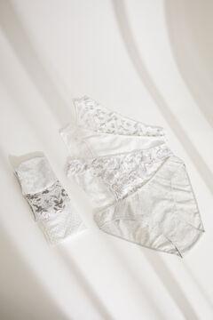 Womensecret 7-pack classic grey floral cotton panties grey