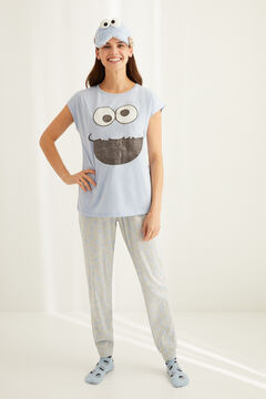 Womensecret Short-sleeved Cookie Monster pyjamas bleu