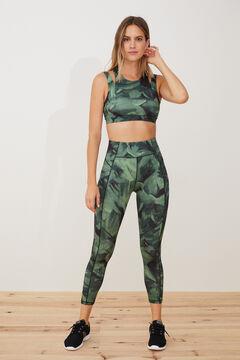 Womensecret Long stretch leggings green