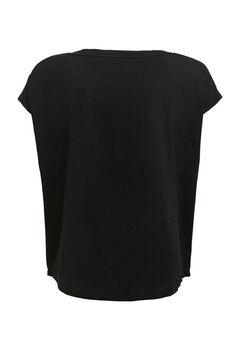 Womensecret Camiseta entrenamiento manga corta negro