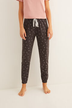 Womensecret Long moon print pyjama bottoms grey